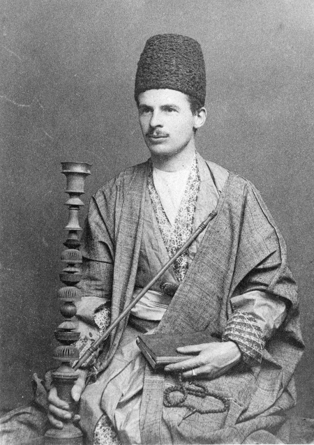 Portrait of Browne in Persian attire.