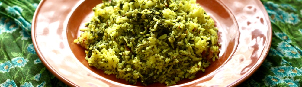Herbed rice on a plate